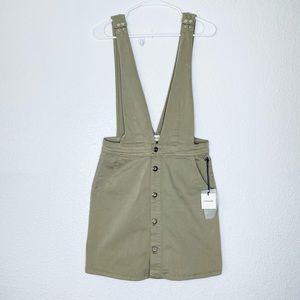 Sneak Peek Jumper Overall Button Front Skirt NWT